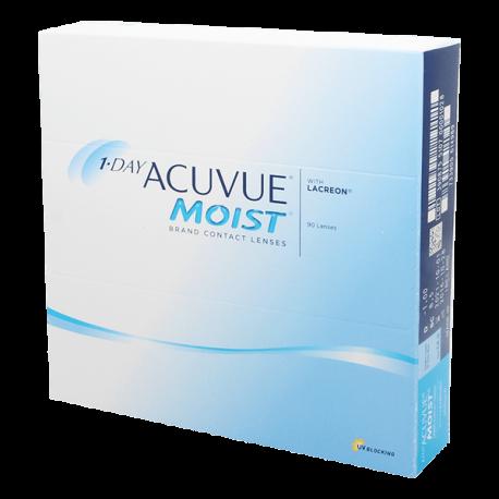 1-Day Acuvue Moist - 90 lentilles