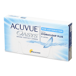 Acuvue Oasys for Astigmatism - 6 lentilles