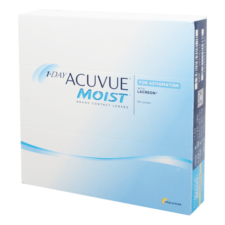 1-Day Acuvue Moist for Astigmatism - 90 lentilles